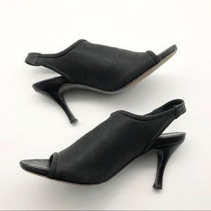Donald J. Pliner Black Heeled Sandals, size 7.5
